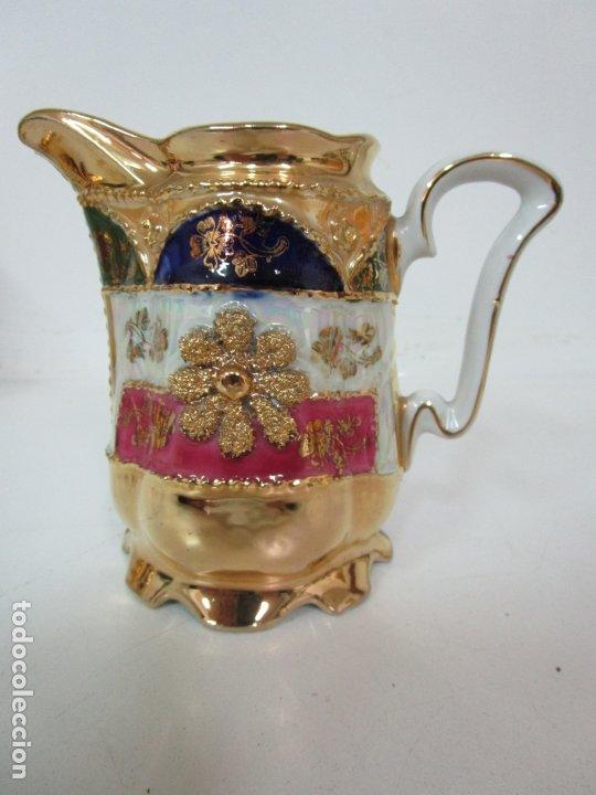 Antigüedades: Bonito Juego de Café o Te - Porcelana Limoges, Francia - 12 Tazas - Fino Dorado - Foto 18 - 183287371