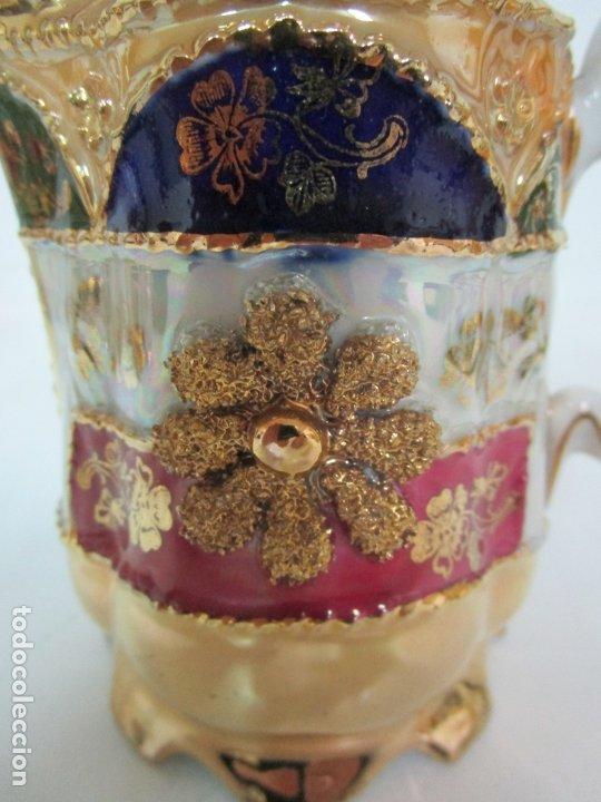 Antigüedades: Bonito Juego de Café o Te - Porcelana Limoges, Francia - 12 Tazas - Fino Dorado - Foto 19 - 183287371