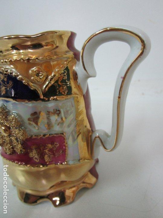 Antigüedades: Bonito Juego de Café o Te - Porcelana Limoges, Francia - 12 Tazas - Fino Dorado - Foto 22 - 183287371