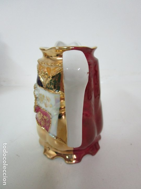 Antigüedades: Bonito Juego de Café o Te - Porcelana Limoges, Francia - 12 Tazas - Fino Dorado - Foto 25 - 183287371