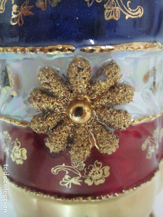 Antigüedades: Bonito Juego de Café o Te - Porcelana Limoges, Francia - 12 Tazas - Fino Dorado - Foto 31 - 183287371