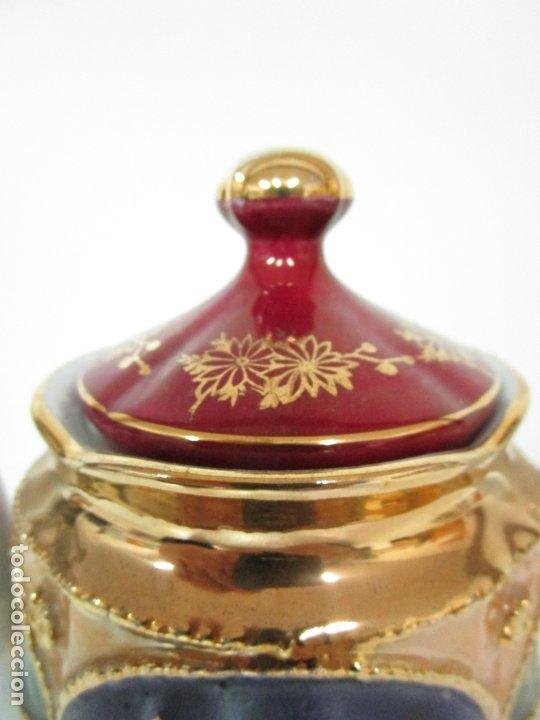 Antigüedades: Bonito Juego de Café o Te - Porcelana Limoges, Francia - 12 Tazas - Fino Dorado - Foto 32 - 183287371