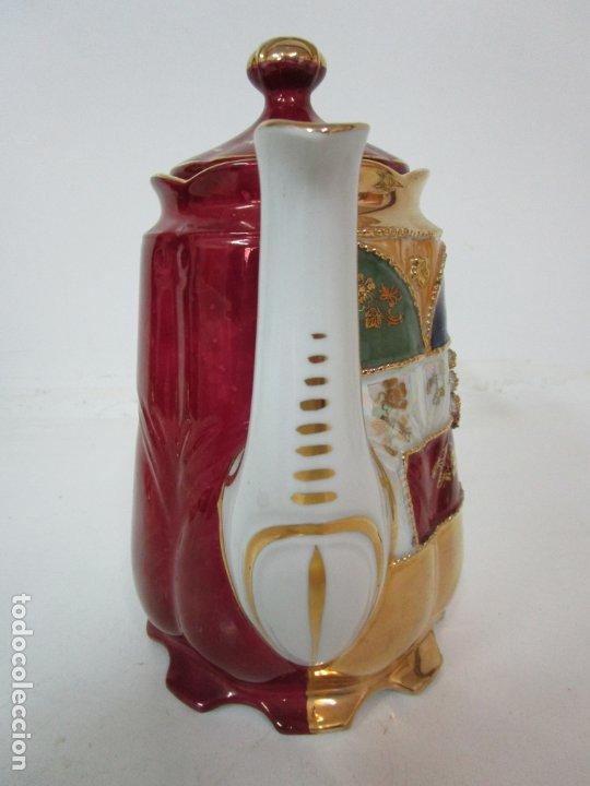 Antigüedades: Bonito Juego de Café o Te - Porcelana Limoges, Francia - 12 Tazas - Fino Dorado - Foto 34 - 183287371