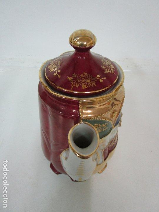 Antigüedades: Bonito Juego de Café o Te - Porcelana Limoges, Francia - 12 Tazas - Fino Dorado - Foto 35 - 183287371