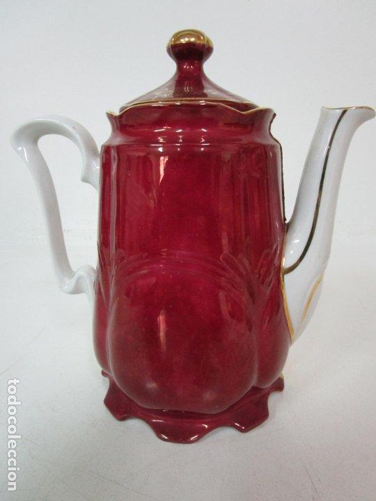 Antigüedades: Bonito Juego de Café o Te - Porcelana Limoges, Francia - 12 Tazas - Fino Dorado - Foto 36 - 183287371