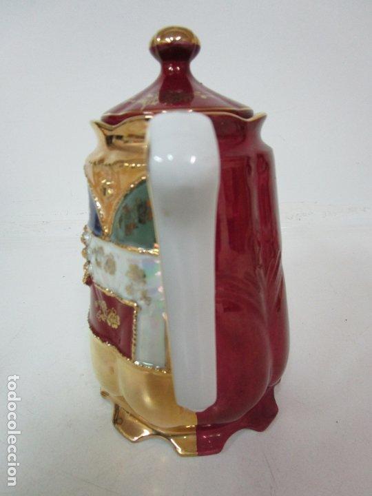 Antigüedades: Bonito Juego de Café o Te - Porcelana Limoges, Francia - 12 Tazas - Fino Dorado - Foto 37 - 183287371