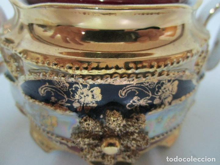 Antigüedades: Bonito Juego de Café o Te - Porcelana Limoges, Francia - 12 Tazas - Fino Dorado - Foto 42 - 183287371