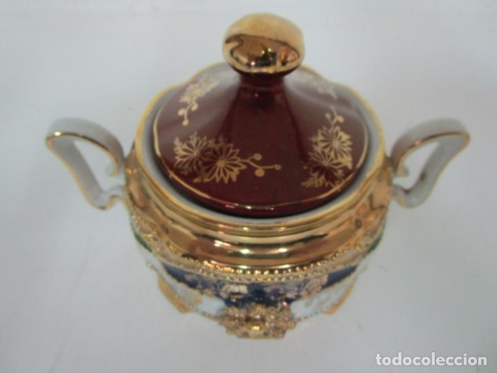 Antigüedades: Bonito Juego de Café o Te - Porcelana Limoges, Francia - 12 Tazas - Fino Dorado - Foto 43 - 183287371