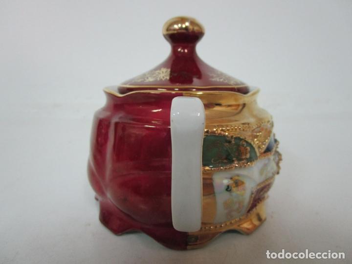 Antigüedades: Bonito Juego de Café o Te - Porcelana Limoges, Francia - 12 Tazas - Fino Dorado - Foto 45 - 183287371