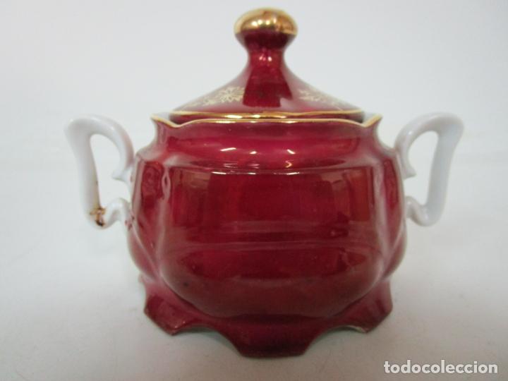 Antigüedades: Bonito Juego de Café o Te - Porcelana Limoges, Francia - 12 Tazas - Fino Dorado - Foto 46 - 183287371