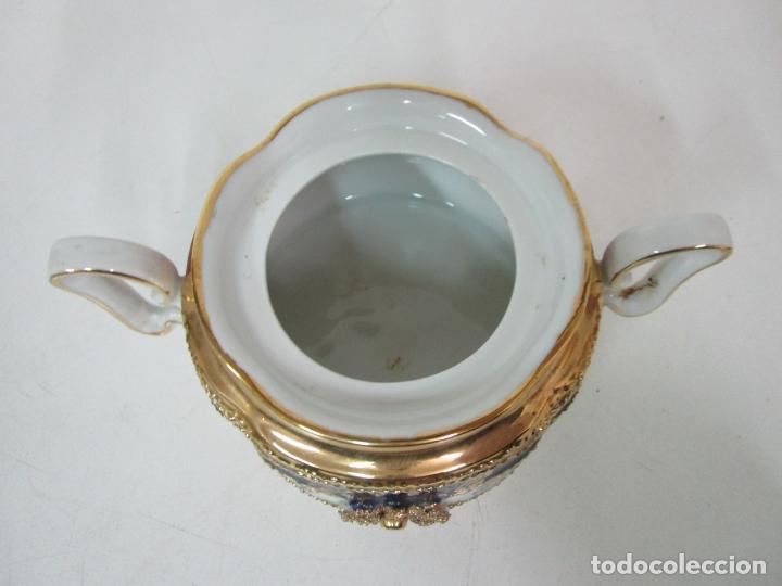 Antigüedades: Bonito Juego de Café o Te - Porcelana Limoges, Francia - 12 Tazas - Fino Dorado - Foto 49 - 183287371