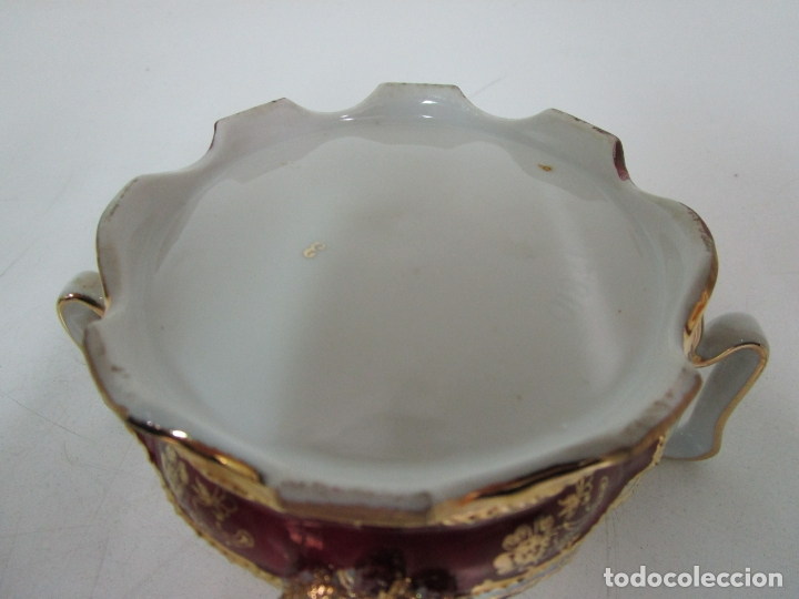 Antigüedades: Bonito Juego de Café o Te - Porcelana Limoges, Francia - 12 Tazas - Fino Dorado - Foto 51 - 183287371