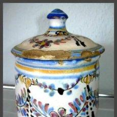 Antigüedades: ANTIGUA CERAMICA CON TAPA / POSIBLEMENTE ALCORA. Lote 183306716