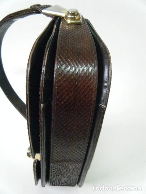 Antigüedades: Bolso piel de serpiente Años 60 -70 - Foto 17 - 183313588