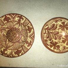 Antigüedades: DOS PLATOS DE REFLEJOS MANISES GIMENO RIOS, DIÁMETRO 23,5 Y 19 CMS. ALTO, 4,5. FOTOS. Lote 183319891