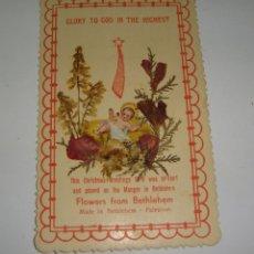 Antigüedades: ESTAMPA RELIQUIA. CON FLORES DE BETHLEHEM - PALESTINA. SOUVENIR DE LA EXPOSICIÓN DE PARÍS - 1937. Lote 183320227