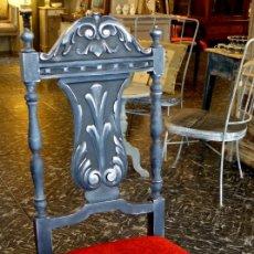 Antigüedades: PAREJA DE SILLAS ESTILO RENACENTISTA TUNEADAS. Lote 183320795