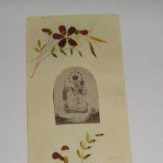 Antigüedades: ESTAMPA RELIQUIA. CON FLORES DE MONT CARMEL.. Lote 183320965
