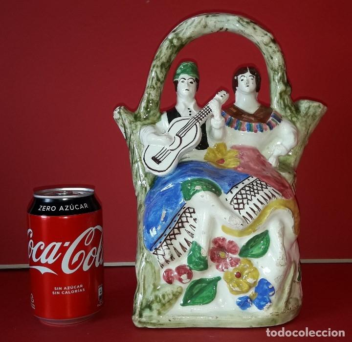 ANTIGUO BOTIJO DE MANISES (Antigüedades - Porcelanas y Cerámicas - Manises)