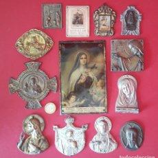 Antigüedades: PLACA , CHAPA RELIGIOSA PARA PUERTAS. Lote 183329412