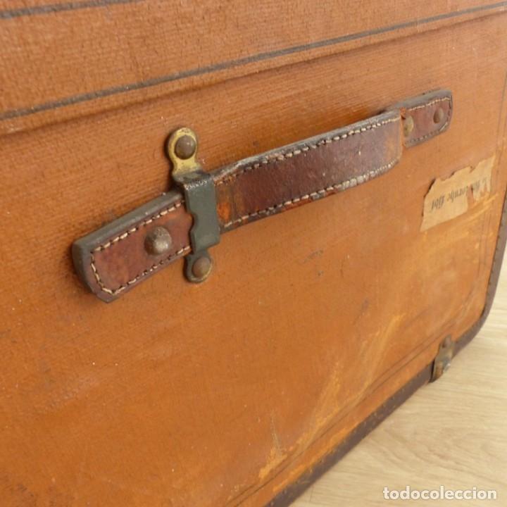 Antigüedades: Antiguo baúl de viaje. Karlsruhe Alemania 1920 - 1930 - Foto 5 - 183338526