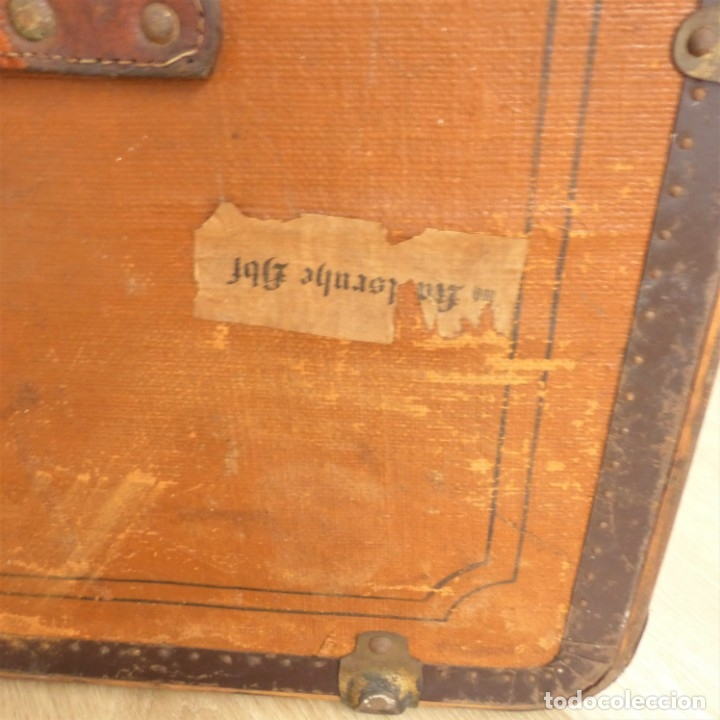 Antigüedades: Antiguo baúl de viaje. Karlsruhe Alemania 1920 - 1930 - Foto 6 - 183338526