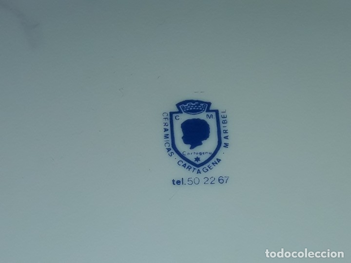 Antigüedades: Bello plato porcelana Maribel Cartagena RCLAC España 11 25cm - Foto 6 - 183344572