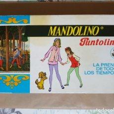 Antigüedades: MUY ANTIGUA CAJA VINTAGE MANDOLINO PUNTOLINK LA PRENDA DE TODOS LOS TIEMPOS. EN CARTÓN AÑOS 50 O 60. Lote 183346073