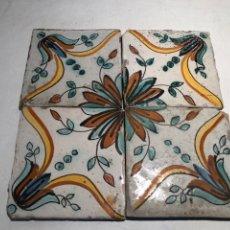 Antigüedades: ANTIGUOS AZULEJOS, RAJOLAS CERAMICA CATALANA SIGLO XVIII. Lote 183366620