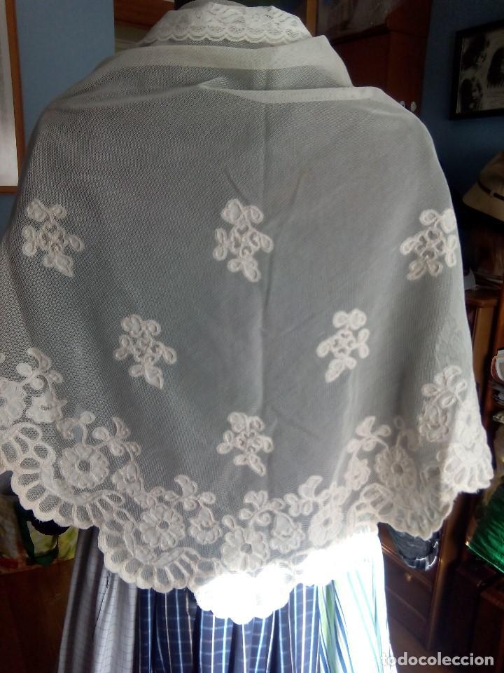 MANTELETA DE TUL Y BATISTA (Antigüedades - Moda y Complementos - Mujer)
