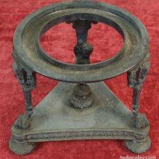 Antigüedades: PEANA. BASE PARA JARRÓN. METAL PLATEADO . ESTILO BARROCO. SIGLO XIX-XX. . Lote 183379868