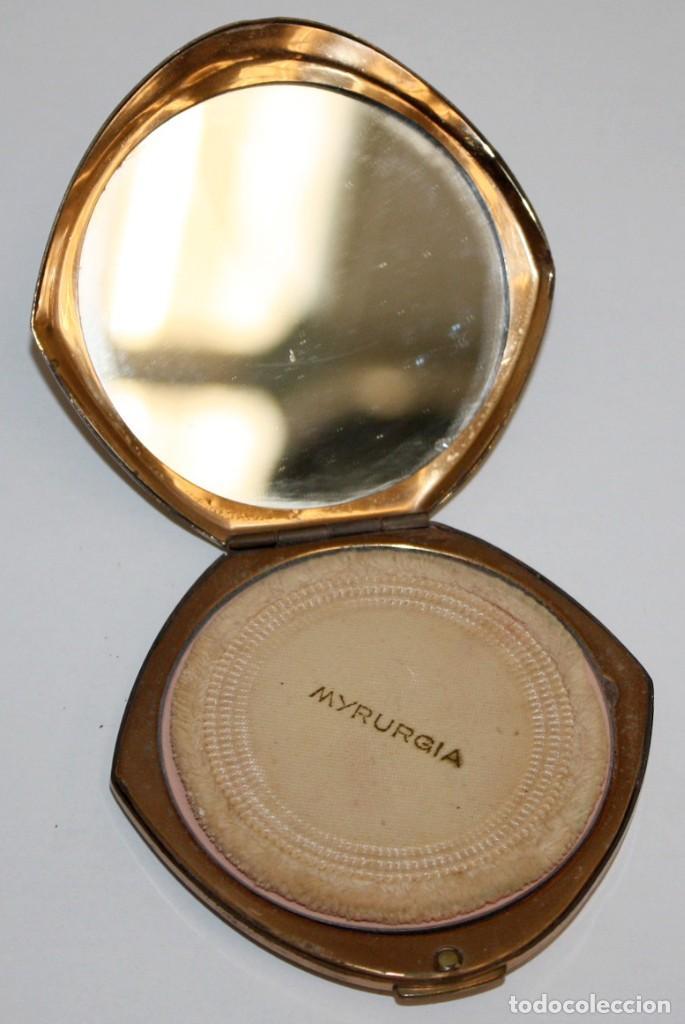 Antigüedades: POLVERA REALIZADA EN METAL. MYRURGIA - Foto 2 - 183385032