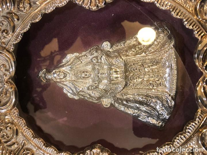 Antigüedades: magnifico relicario en plata o alpaca plateada de alta calidad, sevilla - Foto 2 - 183390353