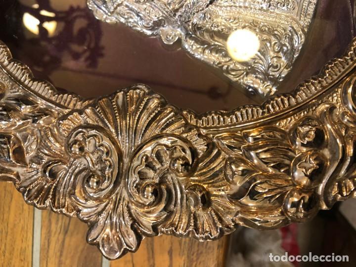 Antigüedades: magnifico relicario en plata o alpaca plateada de alta calidad, sevilla - Foto 4 - 183390353