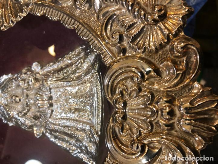 Antigüedades: magnifico relicario en plata o alpaca plateada de alta calidad, sevilla - Foto 5 - 183390353