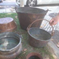 Antigüedades: OLLAS DE COBRE. Lote 183399416