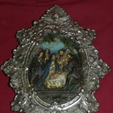 Antigüedades: (M) RELICARIO GRAN TAMAÑO DE TERRACOTA Y METAL S.XIX, 35X27 CM, VER FOTOGRAFIAS. Lote 183403573