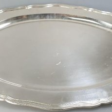 Antigüedades: BANDEJA EN PLATA LEY MARCADO CON CONTRASTE. Lote 183403605