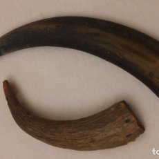 Antigüedades: ANTIGUOS LLAVEROS PASTORILES DE ASTA. Lote 183416091