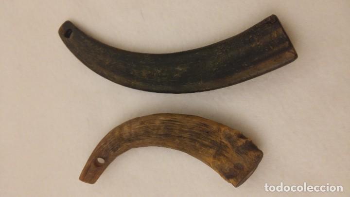 Antigüedades: ANTIGUOS LLAVEROS PASTORILES DE ASTA - Foto 2 - 183416091