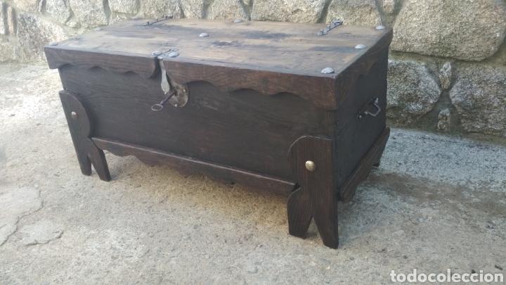 Antigüedades: Arca antigua roble. - Foto 2 - 183420028