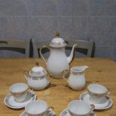 Antigüedades: JUEGO DE CAFÉ - SANTA CLARA. Lote 183432198