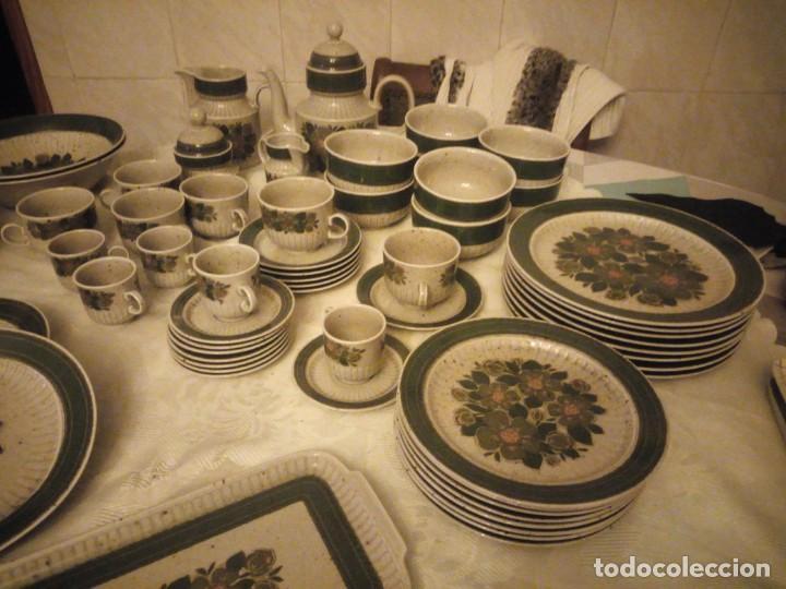 Antigüedades: Antigua vajilla de porcelana winterling bavaria porcelain,modelo nina,retro color verde,1970,60 piez - Foto 2 - 183433940