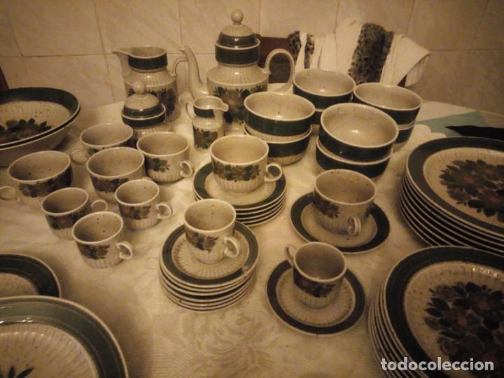 Antigüedades: Antigua vajilla de porcelana winterling bavaria porcelain,modelo nina,retro color verde,1970,60 piez - Foto 3 - 183433940