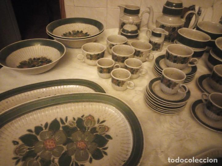 Antigüedades: Antigua vajilla de porcelana winterling bavaria porcelain,modelo nina,retro color verde,1970,60 piez - Foto 4 - 183433940