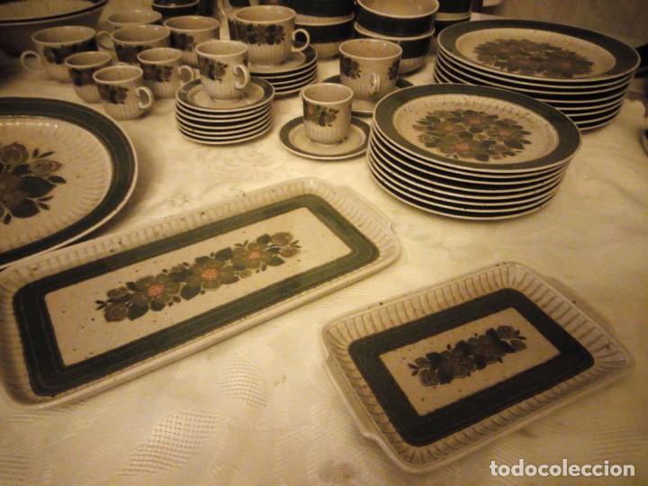 Antigüedades: Antigua vajilla de porcelana winterling bavaria porcelain,modelo nina,retro color verde,1970,60 piez - Foto 6 - 183433940