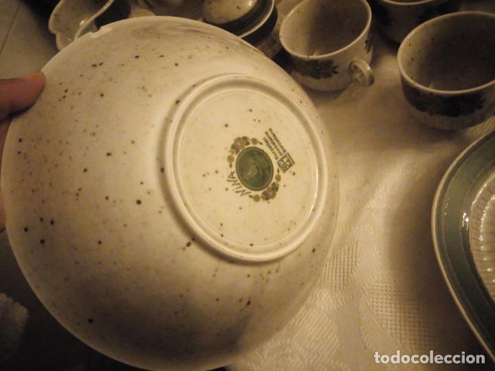 Antigüedades: Antigua vajilla de porcelana winterling bavaria porcelain,modelo nina,retro color verde,1970,60 piez - Foto 13 - 183433940