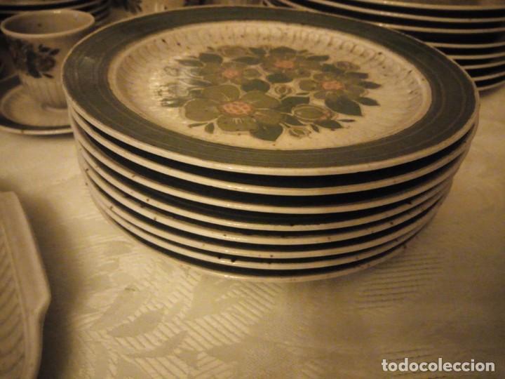Antigüedades: Antigua vajilla de porcelana winterling bavaria porcelain,modelo nina,retro color verde,1970,60 piez - Foto 18 - 183433940