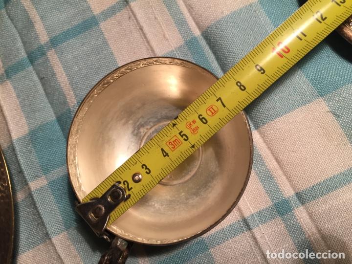 Antigüedades: Antiguas 5 taza / tazas de metal bañado en plata repujado con platos a juego años 40-50 - Foto 16 - 183438365
