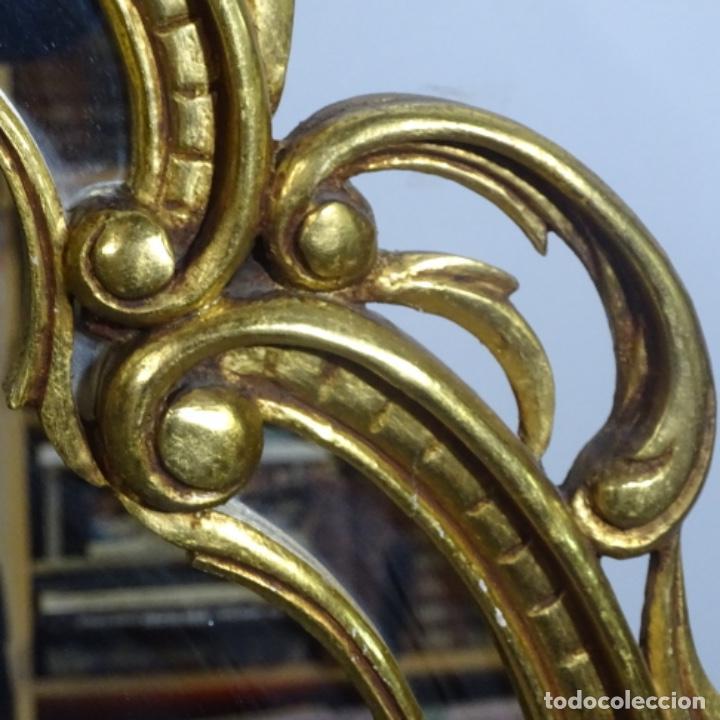 Antigüedades: Espejo cornucopia de madera. - Foto 5 - 183440076